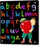 Chalk Board Alphabet B Acrylic Print