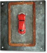 Chalkboard Toy Car Acrylic Print