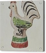 Chalkware Rooster Acrylic Print