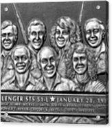 Challenger Crew Acrylic Print