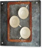 Challkboard Tea Cups Acrylic Print