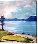 Chambers Bay 15th Hole Acrylic Print by Scott Mulholland