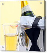 Champagne Black Tie And Lipstick Acrylic Print by Richard Thomas