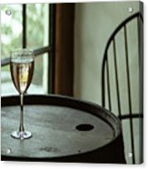 Champagne Glass Acrylic Print by Barry Shaffer