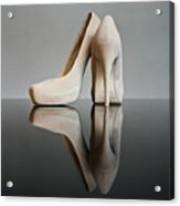 Champagne Stiletto Shoes Acrylic Print