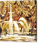 Champagne Twilight Forsyth Park Fountain In Savannah Georgia Usa  Acrylic Print