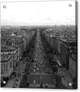 Champs Elysees In Paris Acrylic Print