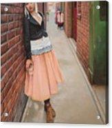 Chance Meeting In Fan Tan Alley Acrylic Print