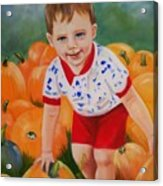 Chance With The Pumpkins Acrylic Print