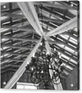 Chandelier In The Rafters Acrylic Print