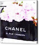 Chanel Bag With Peony  Acrylic Print