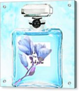 Chanel Blue Flower 3 Acrylic Print