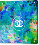 Chanel Blue White Red Black 10 Acrylic Print