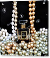 Chanel Coco With Pearls Acrylic Print