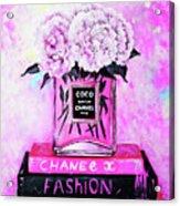 Chanel Perfume With Peony Acrylic Print