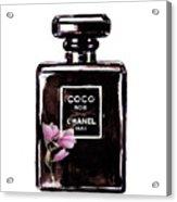 Chanel Noir Magnolia Pink Acrylic Print
