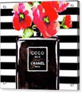 Chanel Noir Perfume With Corn Poppy Acrylic Print