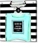 Chanel Perfume Turquoise Chanel Poster Chanel Print Acrylic Print