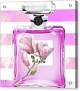 Chanel Pink Flower 5 Acrylic Print