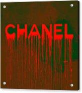 Chanel Plakative Fashion - Neon Weave Acrylic Print