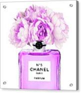 Chanel Print Chanel Poster Chanel Peony Flower Acrylic Print