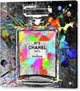 Chanel Rainbow Colors Acrylic Print