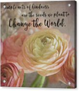 Change The World Acrylic Print