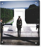 Changing Of The Guard At The Tomb Of The Unknowns At Arlington Acrylic Print