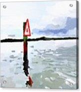 Channel Marker, Banana River, Merritt Island, Fl Acrylic Print