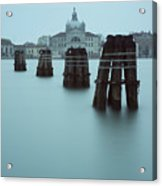 Channel Markers, Venice, Italy Acrylic Print