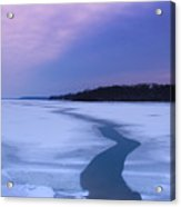 Channel Through The Ice Acrylic Print