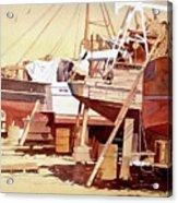 Chantier Naval Acrylic Print