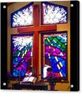 Chapel At The Wesleyan At Scenic Acrylic Print