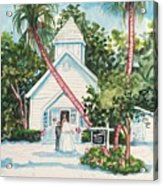 Chapel By The Sea Captiva Acrylic Print