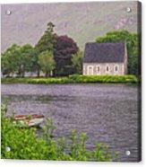 Chapel In The Mist - Gougane Barra - County Cork - Ireland Acrylic Print