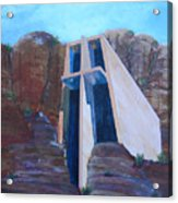 Chapel in the Mountains Acrylic Print