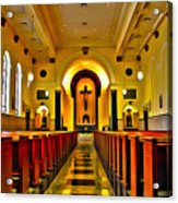 Chapel Interior I Acrylic Print