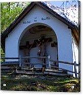 Chapel Of Rietz Calvary Tyrol Austria Acrylic Print