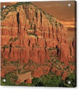 Chapel Of The Holy Cross At Sunset Acrylic Print
