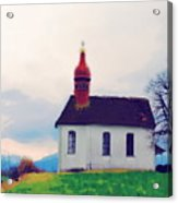 Chapel On A Hill Acrylic Print