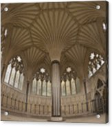 Chapter House, Wells Cathedral, Somerset Uk Acrylic Print