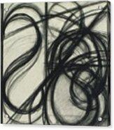 Charcoal Arc Drawing 7 Acrylic Print