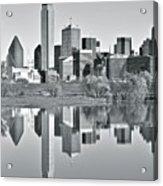 Charcoal Big D Reflection Acrylic Print