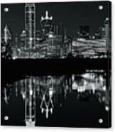 Charcoal Night In Dallas Acrylic Print