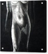 Charcoal Nude Study Acrylic Print
