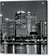 Charcoal Panoramic In Pittsburgh 2017 Acrylic Print