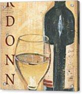 Chardonnay Wine And Grapes Acrylic Print