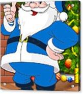 Chargers Santa Claus Acrylic Print