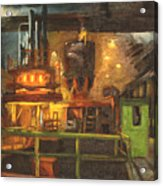 Charging The Arc Furnace Acrylic Print by Martha Ressler