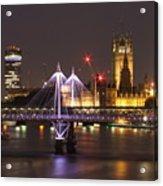 Charing Cross Bridge Acrylic Print